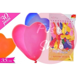 Balloons Heart 35cm Large 30PC's
