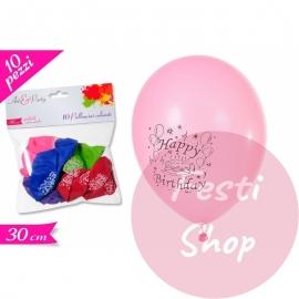 Balloons Happy Birthday 30cm Large 10PC's