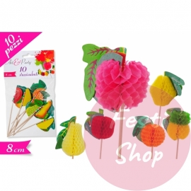 Toothpicks 8cm 10PC'c C/Fruit 3D