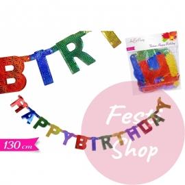1 Lurex Letter HAPPY BIRTHDAY 130cm